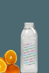 lege fles eigen logo