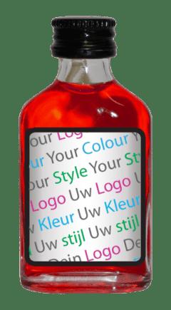 flesje met eigen logo