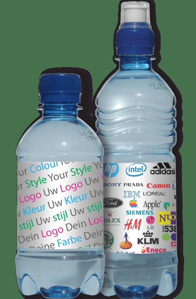 bottled water reclame eigen label drankjes