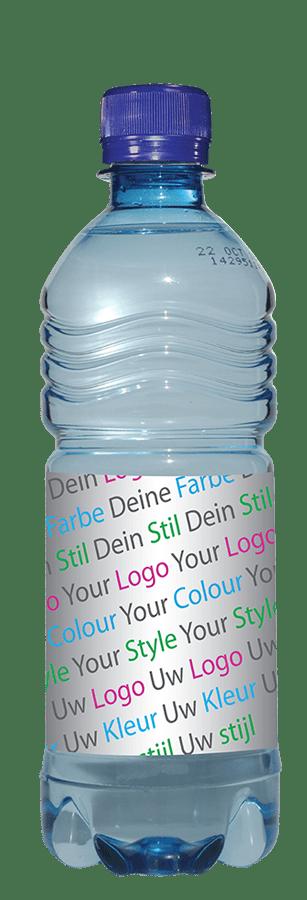 Drankenreclame Flesje Water 500ML Blauw PET